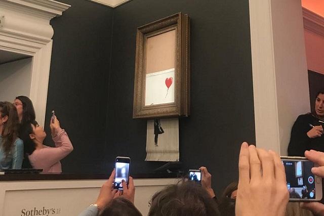 El Banksy triturado será vendido por 1.18 millones de euros