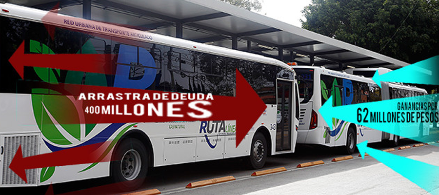 El Metrobús de Puebla rueda con déficit de 400 millones de pesos