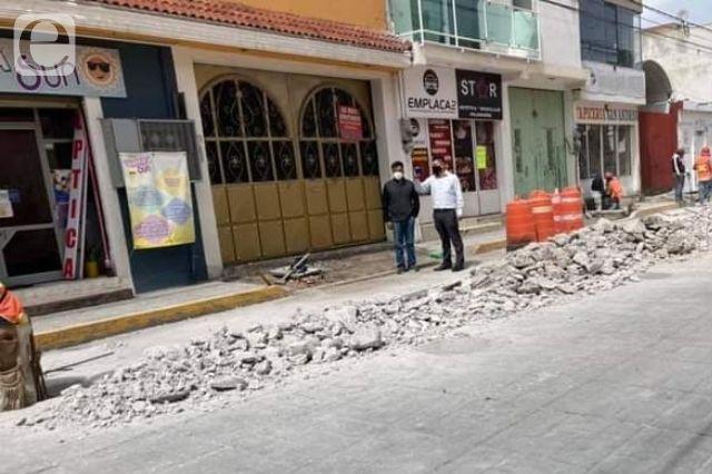 Protestan por ampliación de banquetas en San Andrés