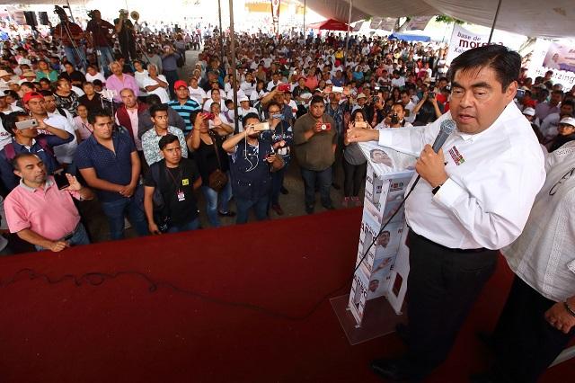 Miguel Barbosa afirma que en 100 días reestructurará a la Policía