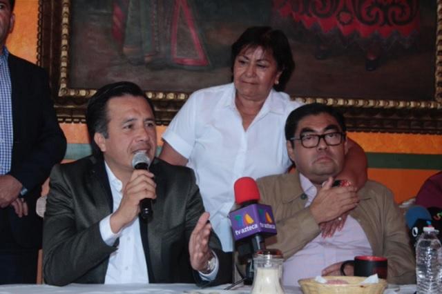 Respetar triunfo de Barbosa, exige gobernador electo de Veracruz