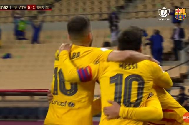 De mano de Messi, Barcelona golea al Atlético de Bilbao y gana Copa del Rey