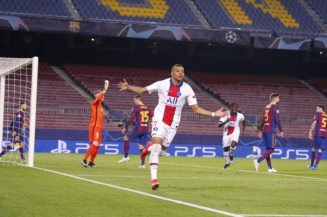 PSG golea a domicilio a Barcelona en Octavos de UEFA Champions League