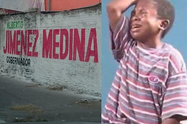 Pintores se equivocan y le cambian el nombre a Jiménez Merino