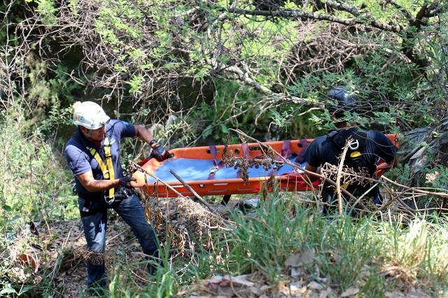 Hombre de la tercera edad cae a barranca en Zaragoza