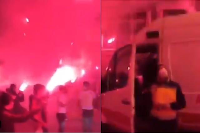 Médicos de Turquía reciben espectacular bienvenida por barra de futbol