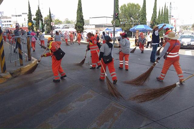 Organismo de Limpia en Puebla dará servicio este 5 de Mayo