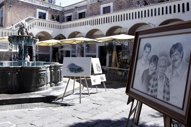Reconocen trayectoria de artistas en el Barrio del Artista