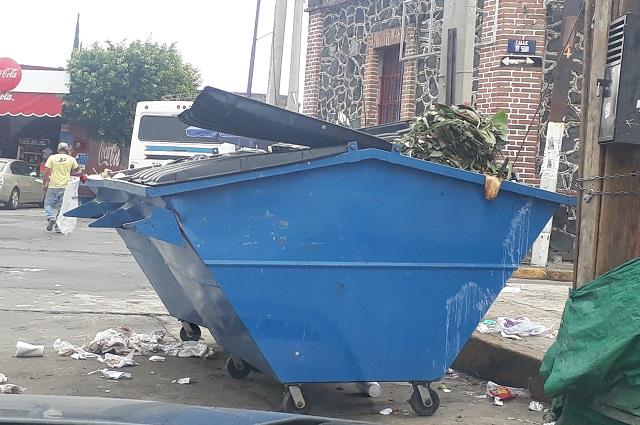 Baja al 50% generación de basura por suspensión de tianguis en Atlixco