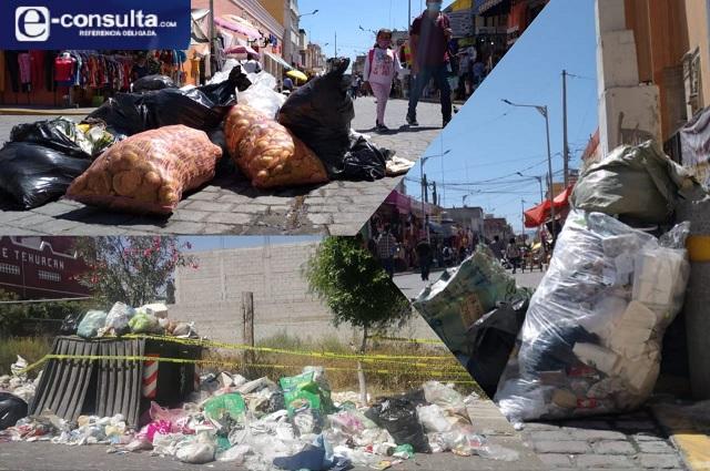 A punto de la crisis sanitaria en Tehuacán por bloqueo en relleno