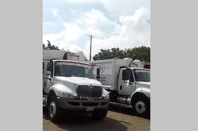 Empleados de limpia en Izúcar exigen sueldo conforme a la ley