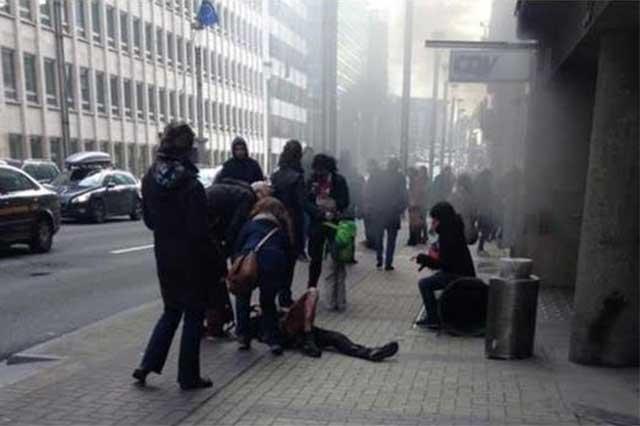 Publican videos de las explosiones en el Metro y aeropuerto de Bruselas