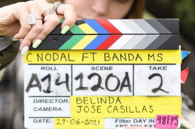 Belinda debuta como directora en videoclip de Christian Nodal