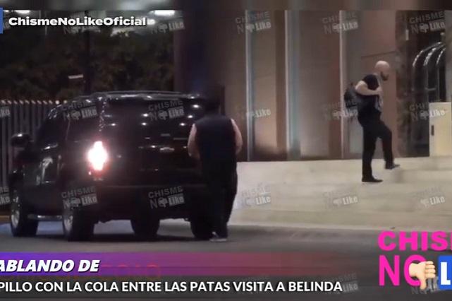 VIDEO: Así llegaba en la noche Lupillo Rivera a casa de Belinda, según CNL