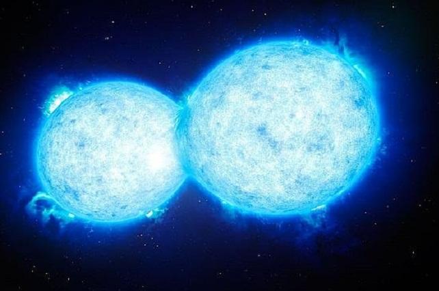 Resultado de imagen de Captan dos estrellas masivas