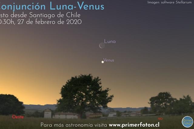 'Beso' entre la Luna y Venus, el increíble espectáculo que se apreciará hoy