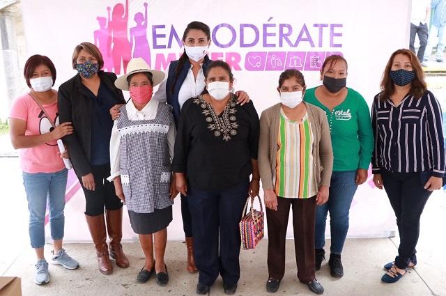 Lanza Angélica Alvarado programa para empoderar a la mujer huejotzinga