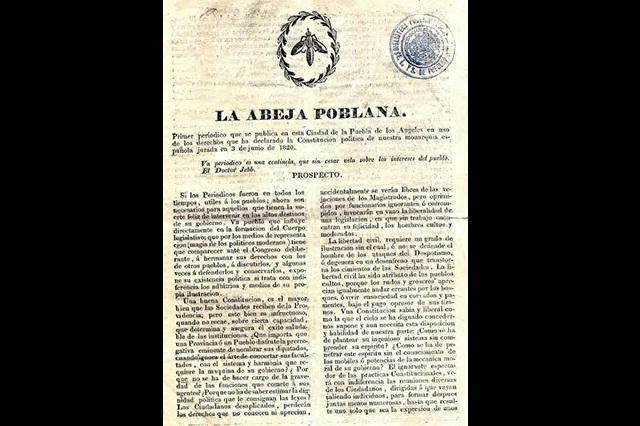 Digitaliza Biblioteca Palafoxiana primer periódico de Puebla