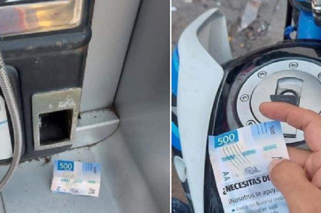 Publicidad engañosa, gente cree encontrarse 500 pesos