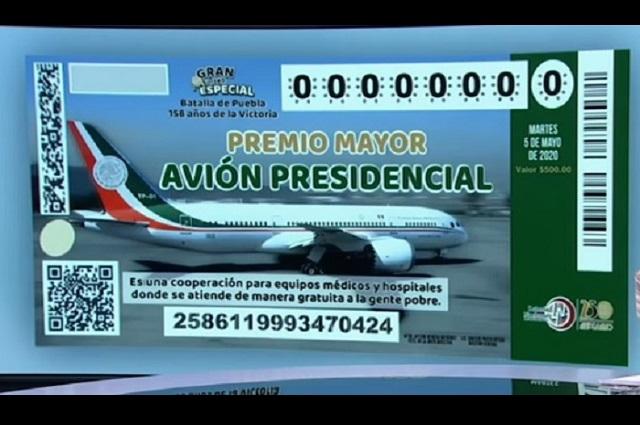 AMLO promueve rifa desde el avión presidencial