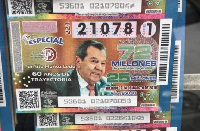 Develarán billete de Lotería Nacional con reconocimiento a Muñoz Ledo