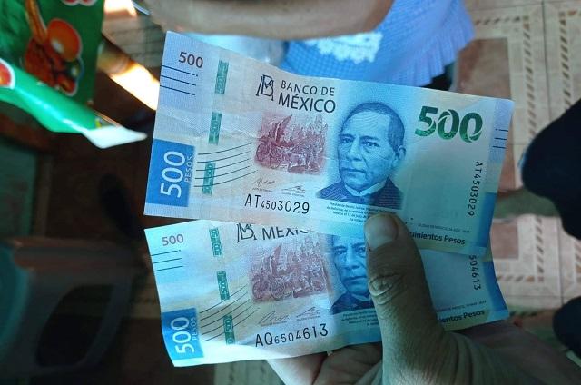 De nueva cuenta circulan billetes falsos en Atlixco