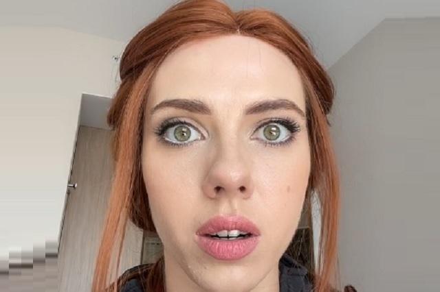 Tiktoker rusa se viste de Black Widow y es muy parecida a Scarlett Johansson