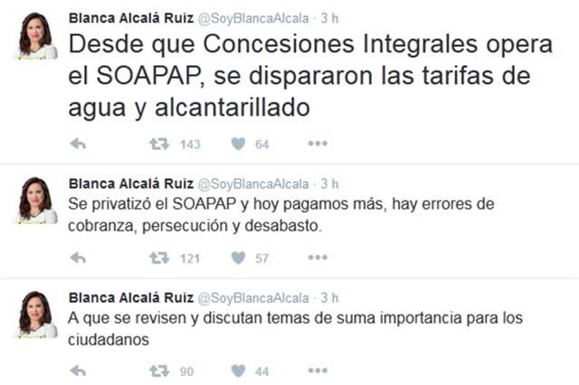Arremete Blanca Alcalá contra proyectos del gobierno de RMV