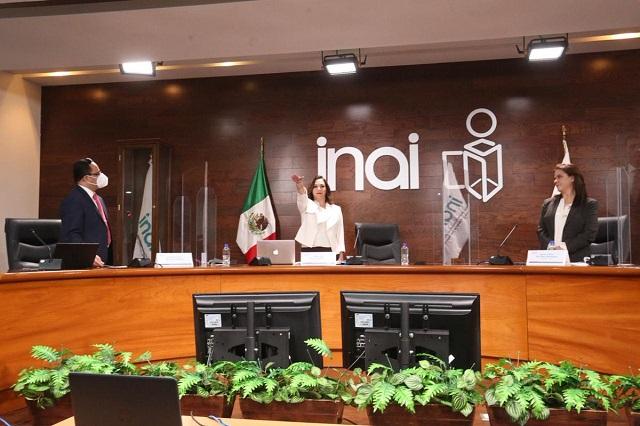 Llega la poblana Blanca Lilia Ibarra a la presidencia del INAI