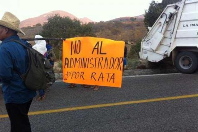 Por conflicto postelectoral bloquean la carretera Oaxaca-Istmo