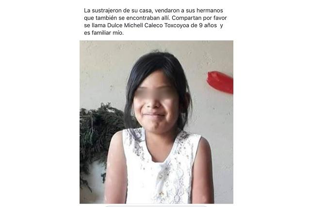 Bloquean la federal a Atlixco por rapto de niña en Tlaxcalancingo