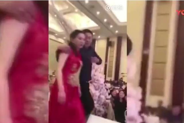 VIDEO Suegro besa a la esposa de su hijo en plena boda y se arma alboroto