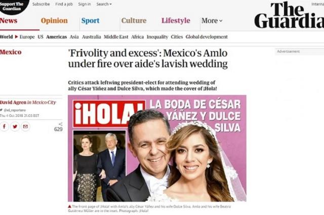 El diario The Guardian le dedica una nota a la boda de César Yáñez