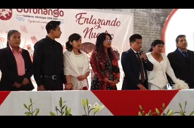 Este 14 de febrero se casan 20 parejas en Coronango