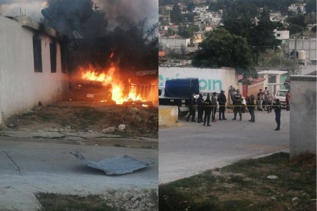Hallan bodega clandestina de gas LP tras explosión en Tlalancaleca