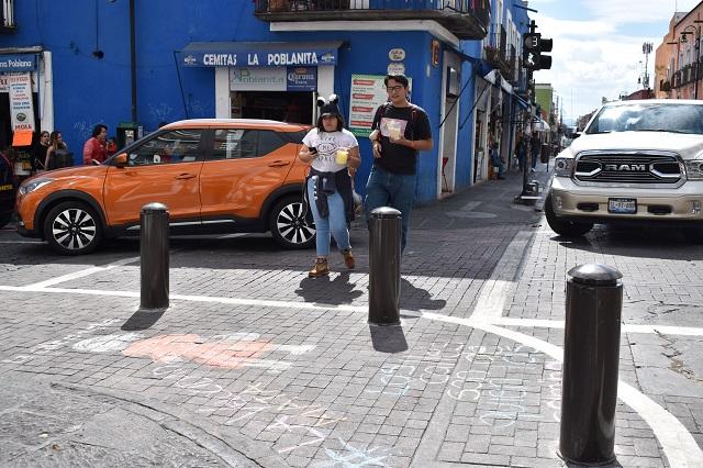Destacan petición de bolardos para zonas escolares en Puebla