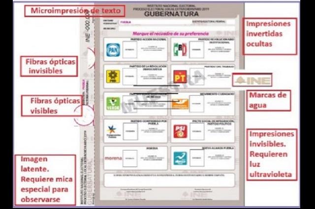 Así serán las boletas electorales con foto para elección de Puebla