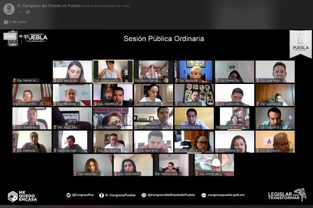 Diputados locales se acusan e insultan en sesión virtual