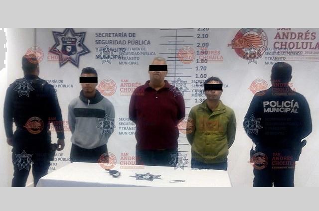 Elementos de la SSPTM detienen a tres masculinos por tentativa de robo