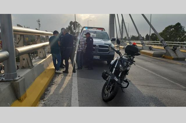 Elementos de la SSPTM de san Andrés Cholula evitan un suicidio