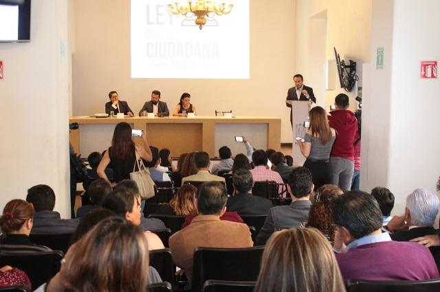 Destacan pluralidad de foro para ley de participación ciudadana