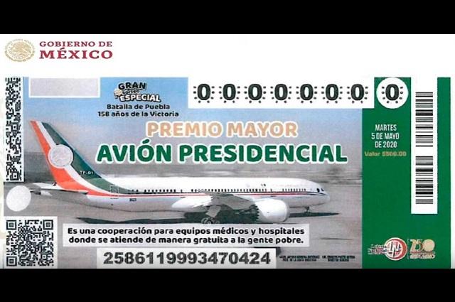 Ya habían comenzado a vender billetes para rifa del avión, acepta AMLO