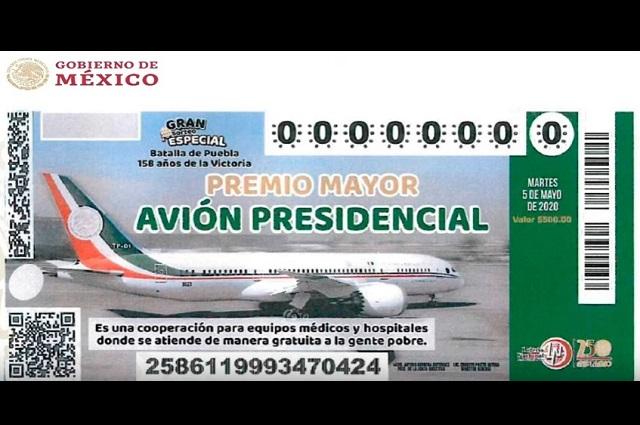 Pide AMLO comprar boletos para rifa del avión presidencial