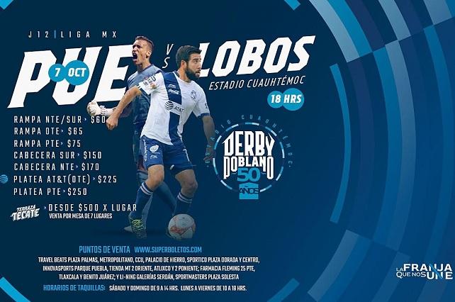Desde 60 pesos los boletos para el Puebla-Lobos