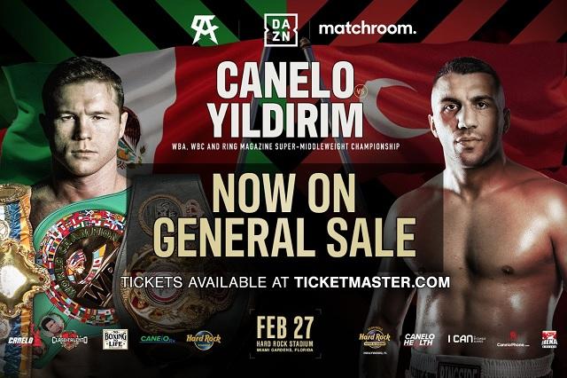 Canelo vs Yildirim: entradas superan los 22 mil pesos
