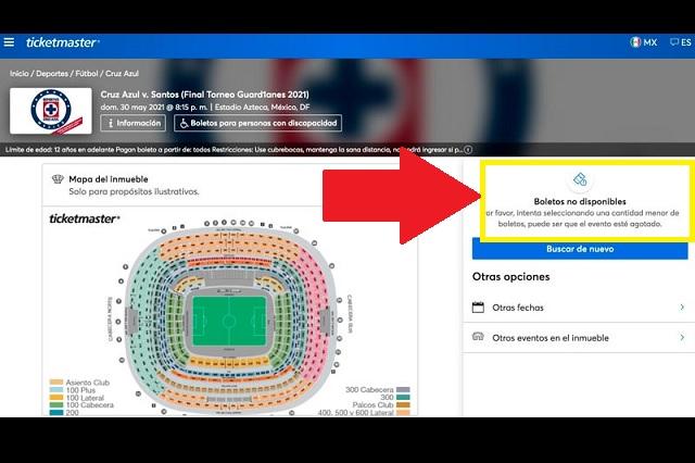 Boletos para final entre Cruz Azul y Santos se agotan en minutos