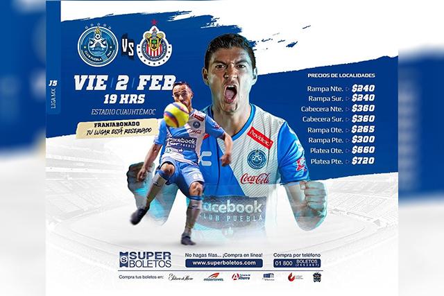 Hasta 720 pesos por boleto para el Puebla-Chivas