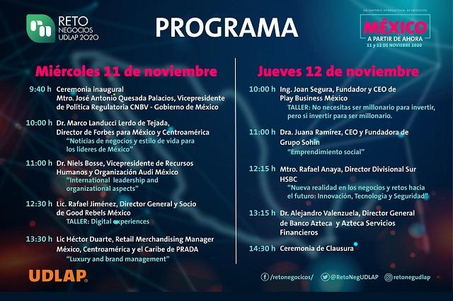 UDLAP invita a su XIX Simposio Internacional Reto Negocios
