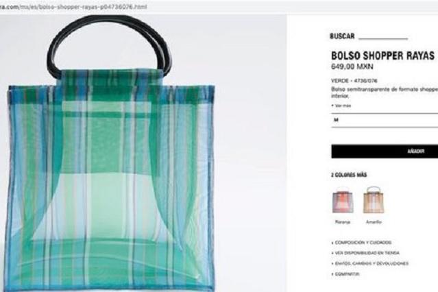 """Zara vende """"bolsa de mandado"""" en 649 pesos y es causa de burla en redes"""
