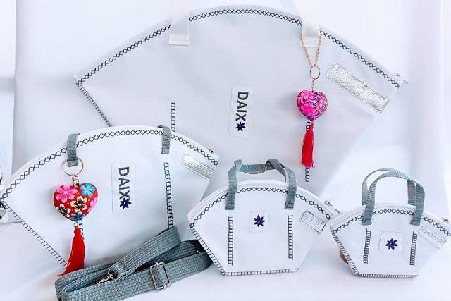 En Oaxaca, diseñan bolsos con forma de cubrebocas y son un éxito